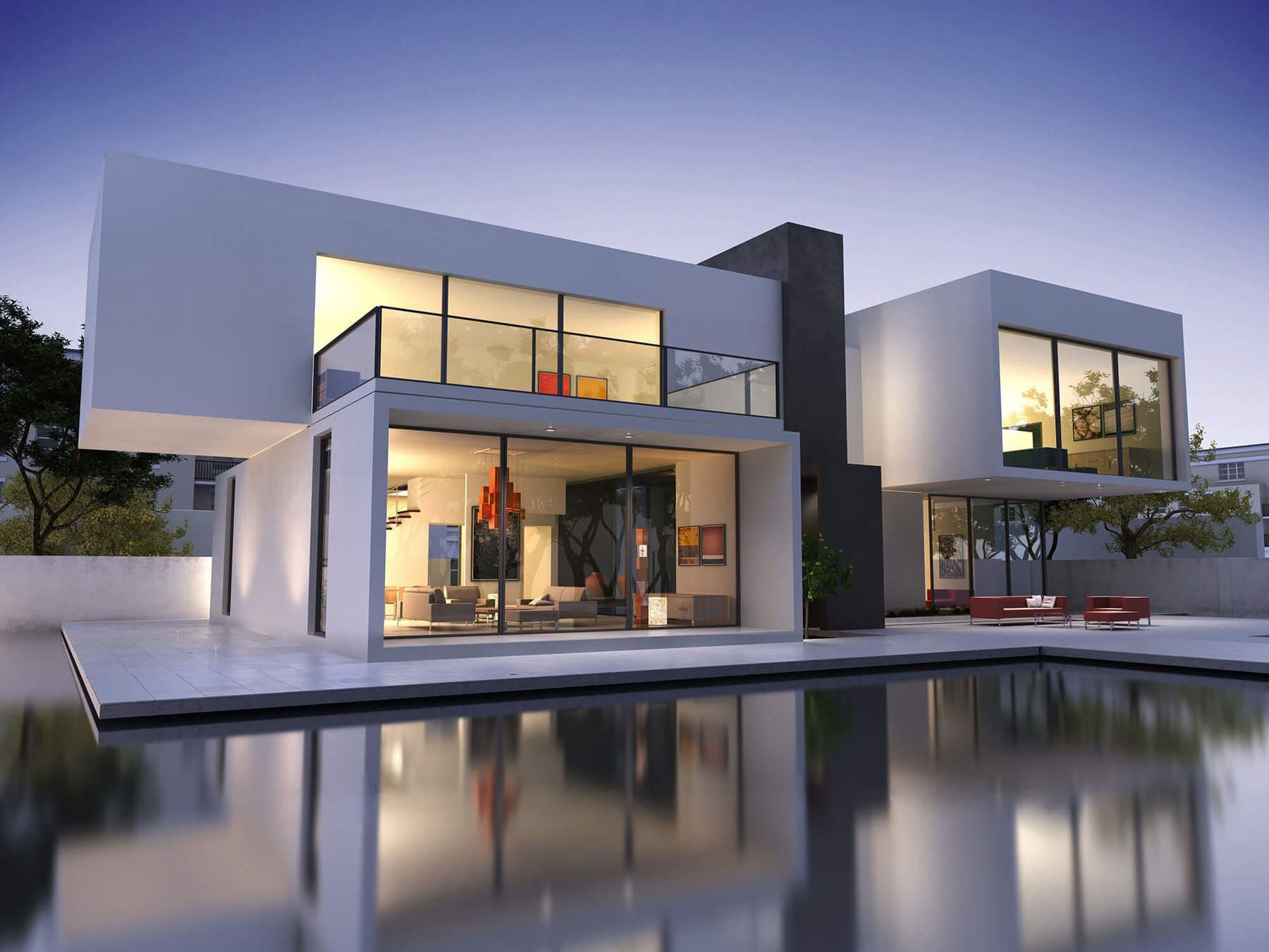 Futuristisches Haus